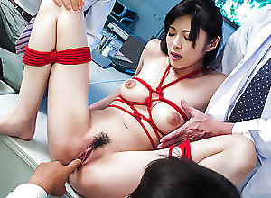 Asian,Japanese,MILF,Big Tits,Trimmed Pussy,Hardcore,Natural Tits Sara Yurikawa stimulated in kinky...
