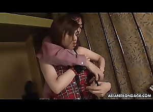 stockings,upskirt,panties,brunette,vibrator,asian,bdsm,bondage,japanese,japan,jav,uncensored,sex-toys,tied-up,toy-insertion,asian_woman Sayumi Matsushita is into BDSM and...