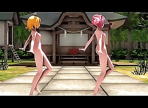 asian,japanese,big-tits,small-tits,big-boobs,vocaloid,hentay,mmd,asian_woman [R-18] Hi-fi Rave - Kagamine Rin  ...