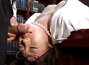 Asian,Blowjob,Cumshot,Glasses,hot milf,office suit,glasses,cock sucking,headfuck,deep throat,cum on face,uniform,japanese,asian Perfect sex story along Asian...