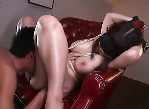 bdsm,kinky Big boobed Asian gal gets blindfolded...