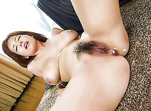 Asian,Big Tits,Japanese,Hairy,Creampie,Hardcore,MILF,hardcore action,rear fuck,tattoo,dick riding,pussy licking,tit fuck Cum on her hairy pussy after a...
