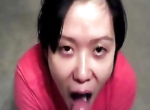 Asian;Chinese;Cum in Mouth;Cum Swallowing;Cumshots;Drinking Slanty Eyed Asian Drinking...