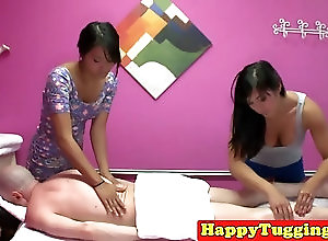 ffm Asian massage threeway with babes...
