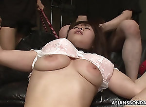japanese Groped, poked and toy fucked by the boys