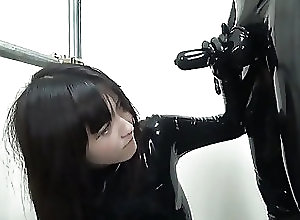 Asian;Blowjobs;Latex;Slave;HD Videos;Master;Suck Cock;Dressed Girl Suck A Latex Cock Of A Master...