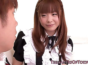 babe,hairy,nippon Uniformed japanese teen facialized...